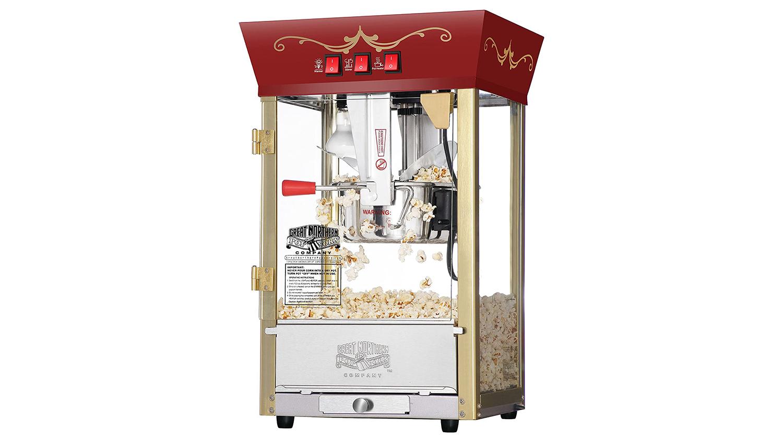 movie theater style antique popcorn machine