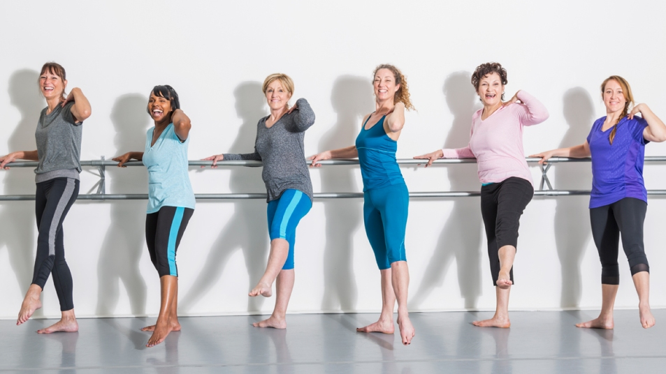 Woman at a dance barre