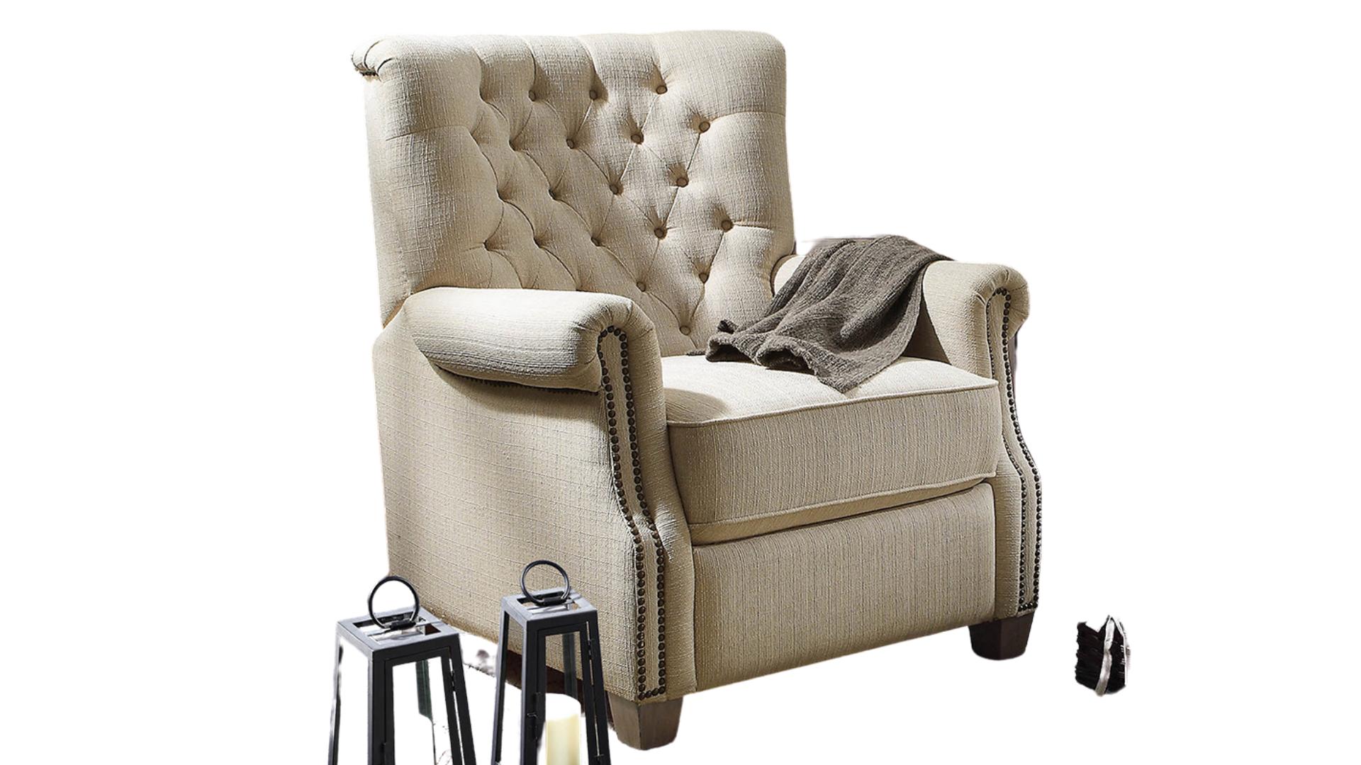 tufted back affordable recliner
