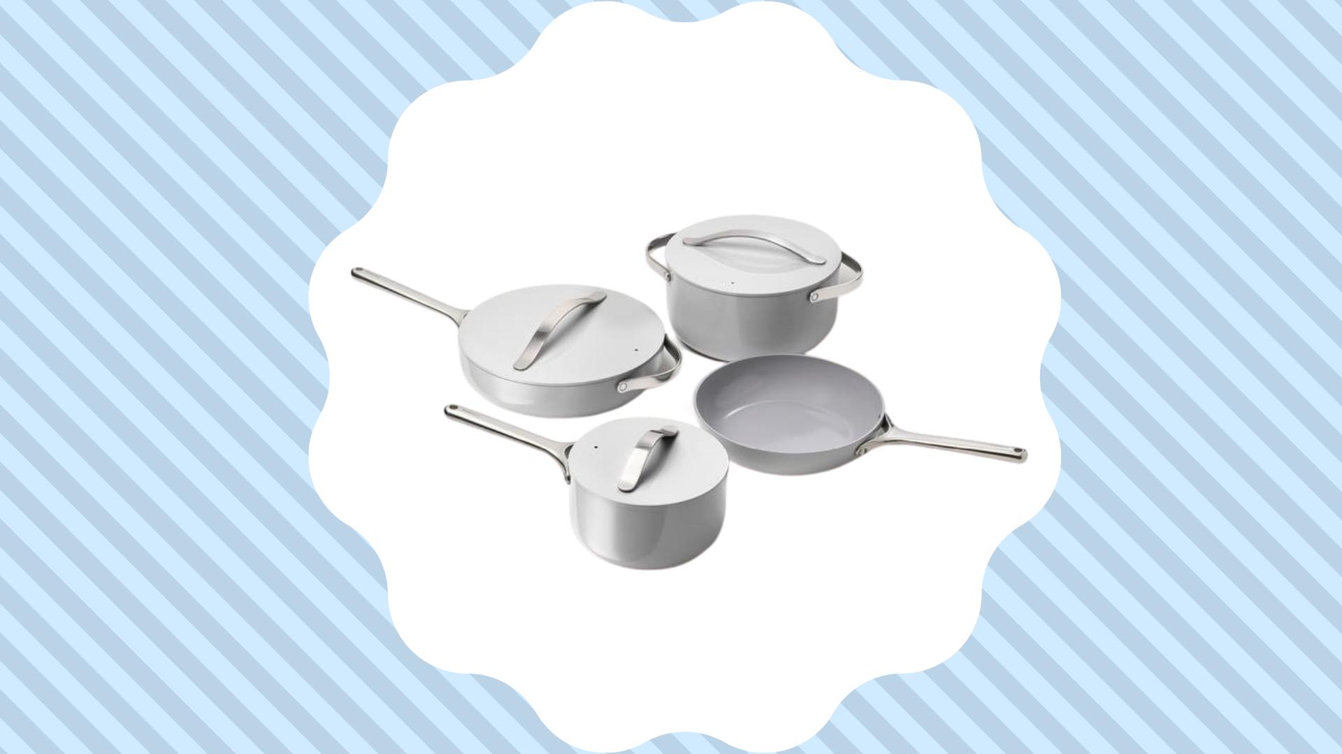 caraway cookware set in gray