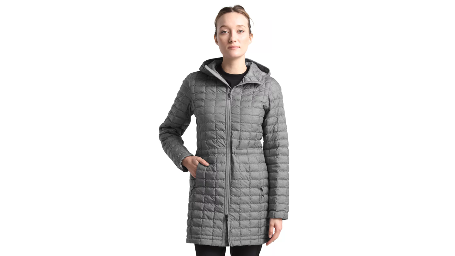 thermoball eco parka in gray