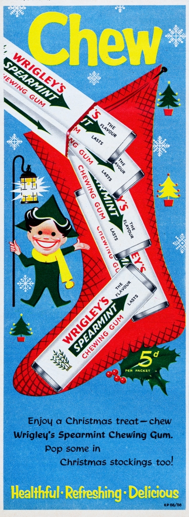Wrigley's gum ad from 1956
