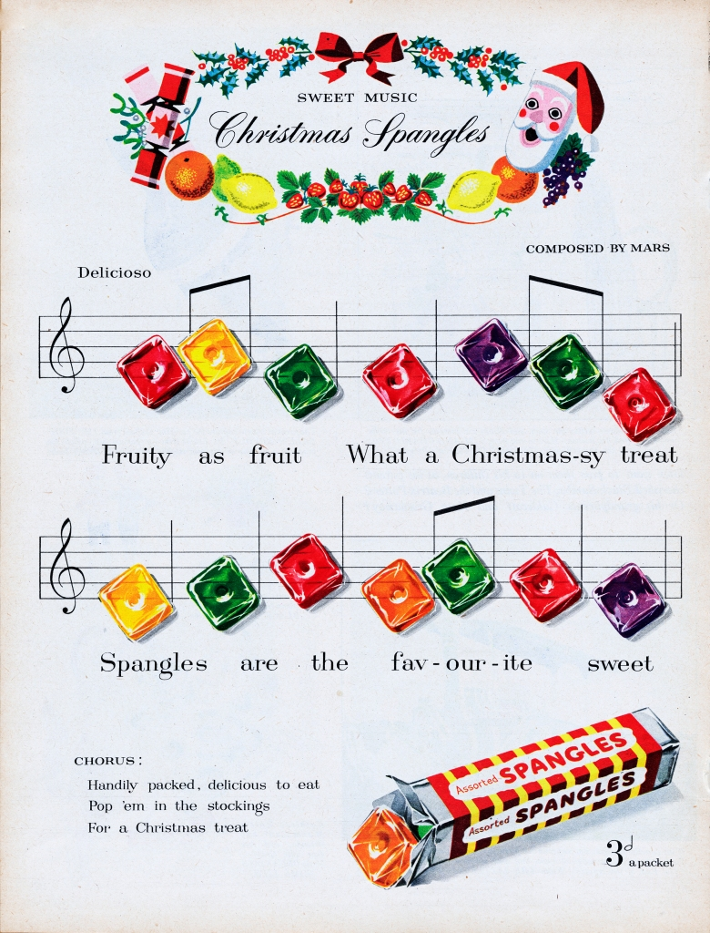 Christmas candy ad from 1953