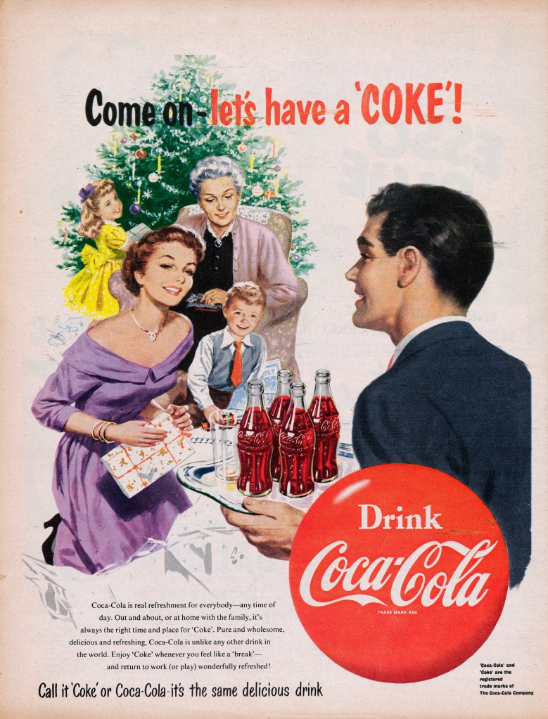 Coca-Cola ad from 1954
