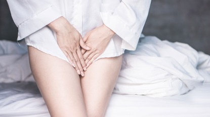 woman with a vaginal infection