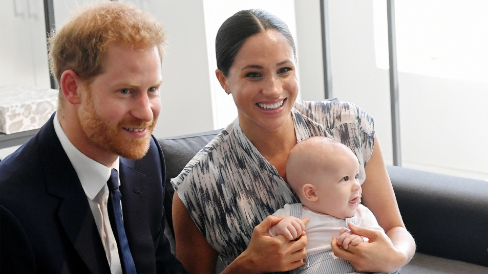 Harry and Meghan with Baby Archie