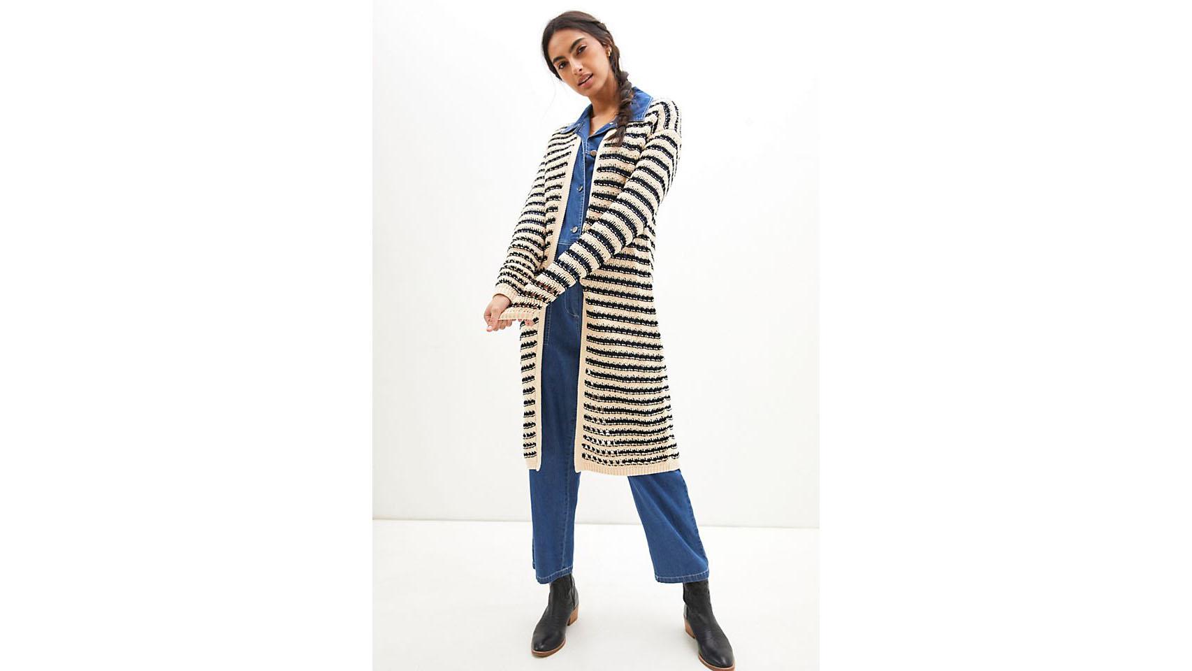 maeve striped cardigan