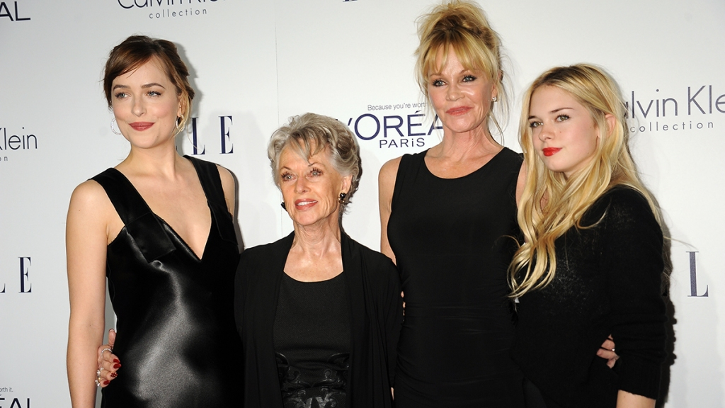Melanie Griffith with mom and daughters