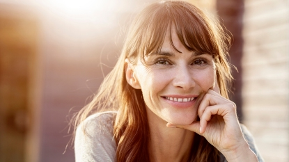smiling healthy woman