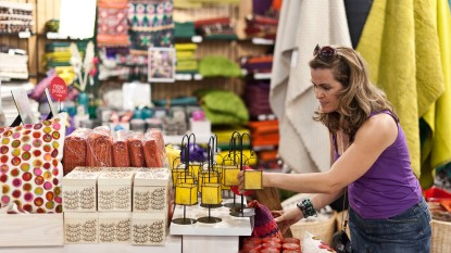 woman shopping at a discount store