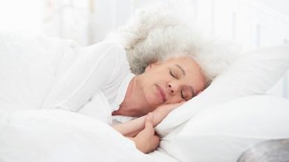 woman sleeping deeply