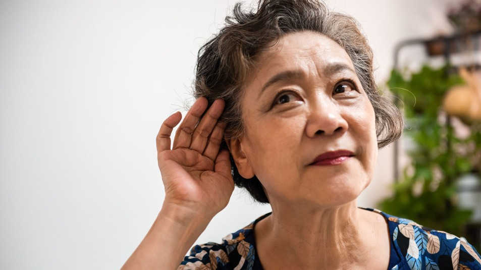 woman with hearing loss