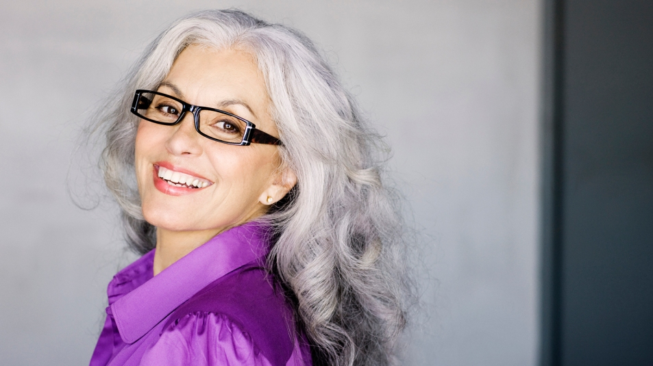 older woman wearing glasses