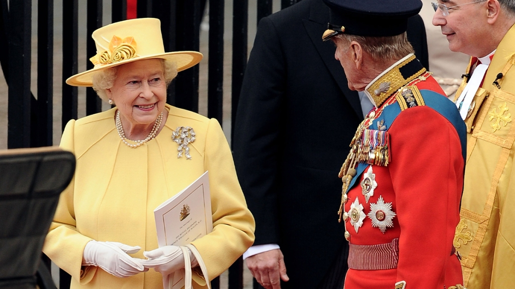 Queen Elizabeth at William and Kate's wedding