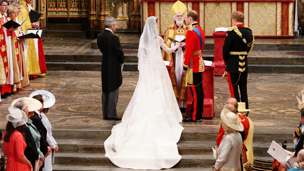 The wedding ceremony begins