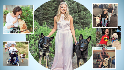 Tabitha Belle and those she helped pair with service dogs