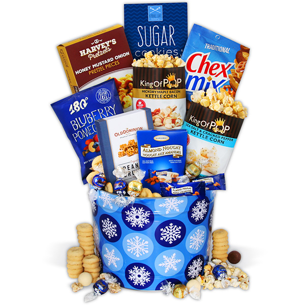 Gift Baskets Let It Snow Snack Tin