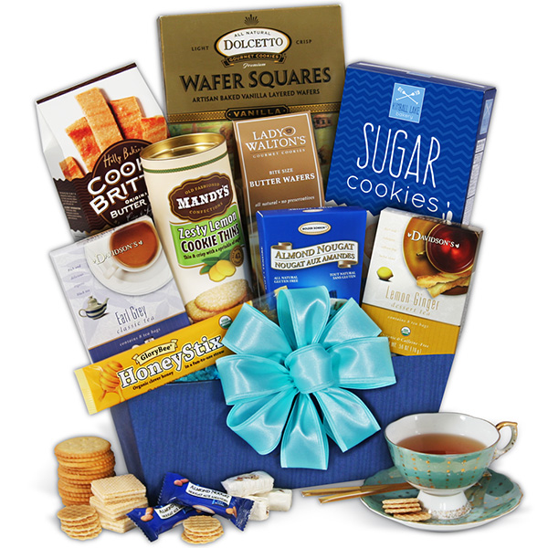 Gift Baskets Tea and Cookies
