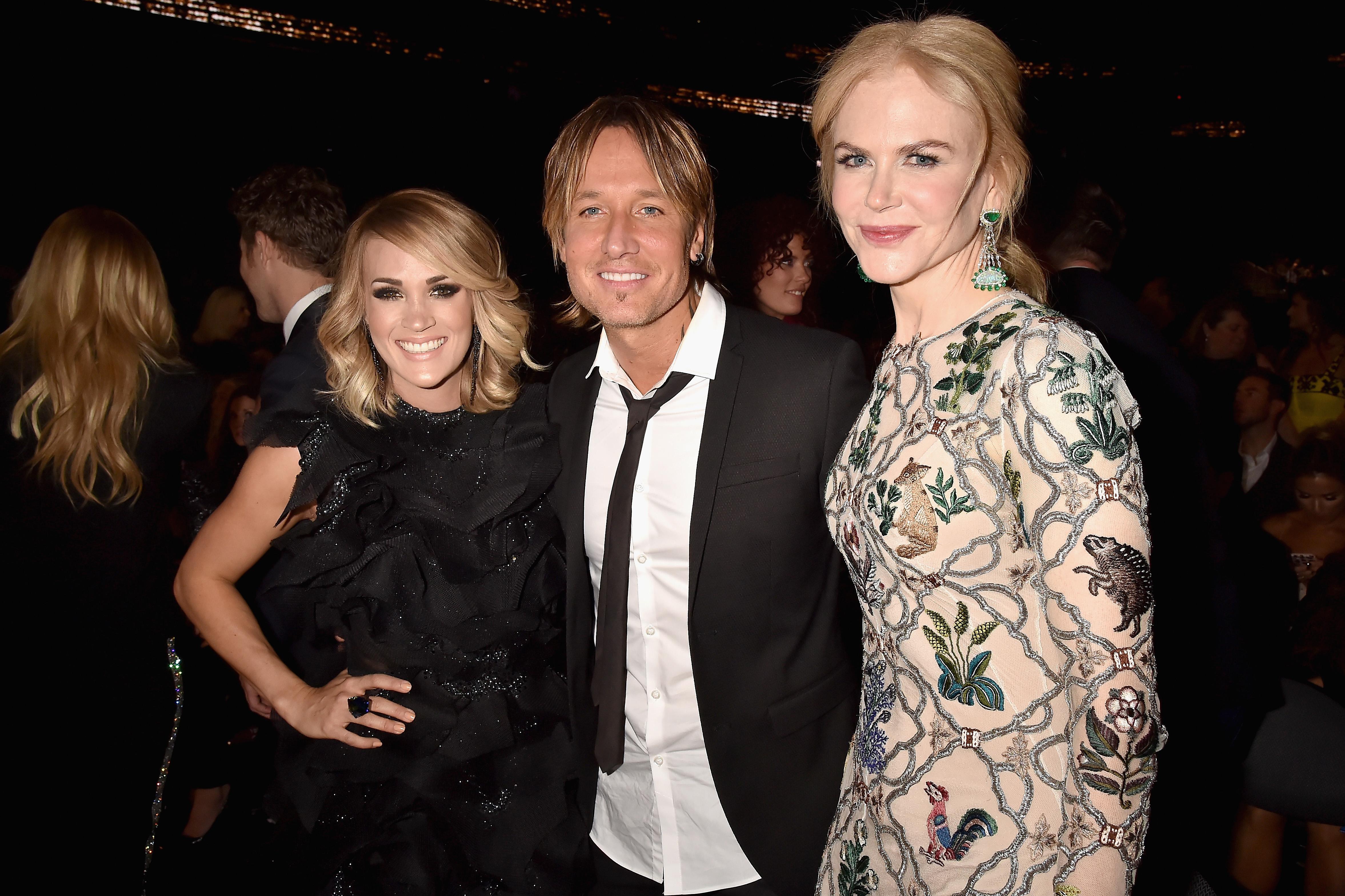 Keith Urban Carrie Underwood Nicole Kidman 2017 ACMs