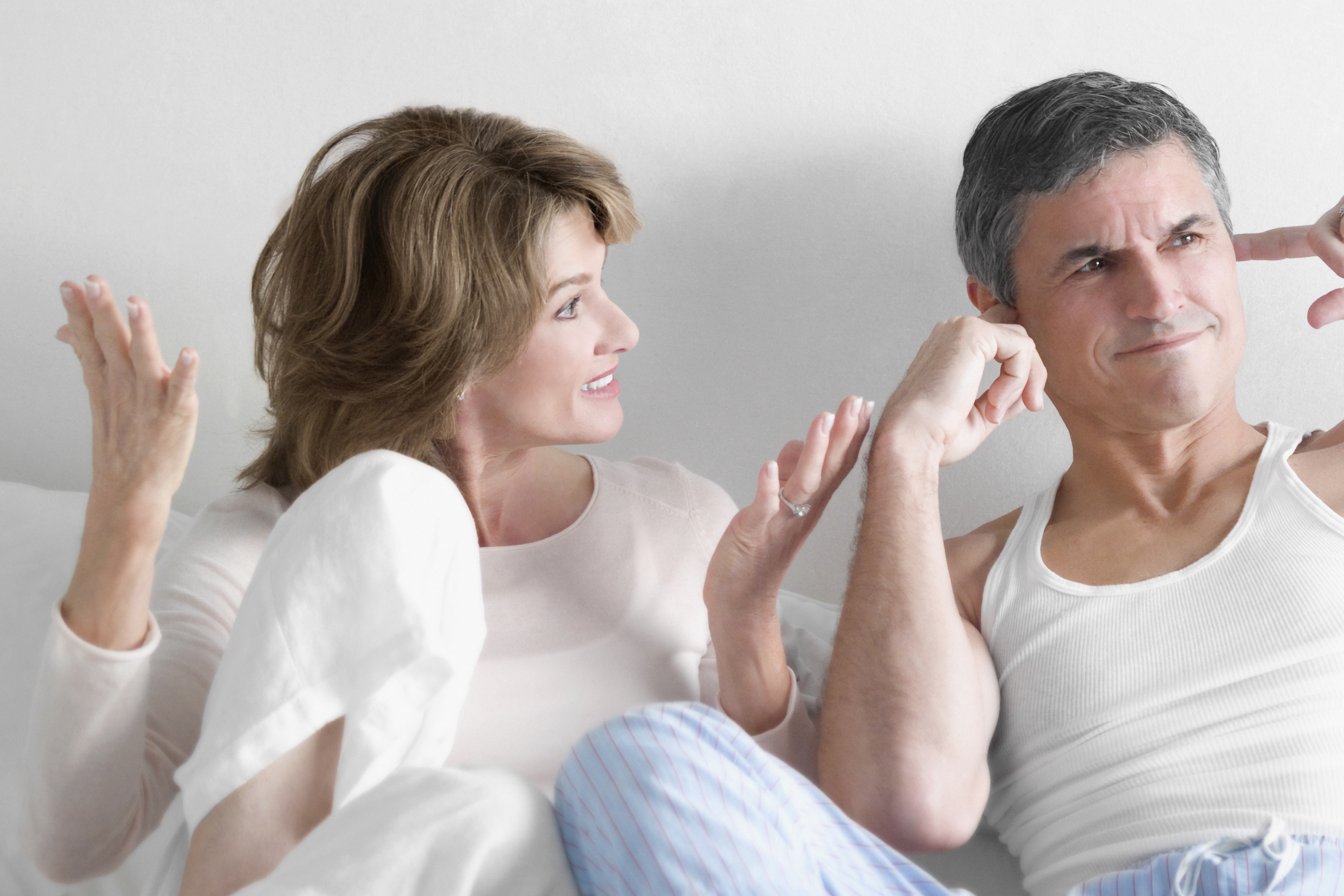 older couple arguing