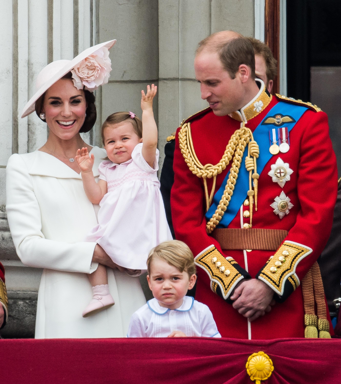Princess Charlotte waving balcony debut Getty