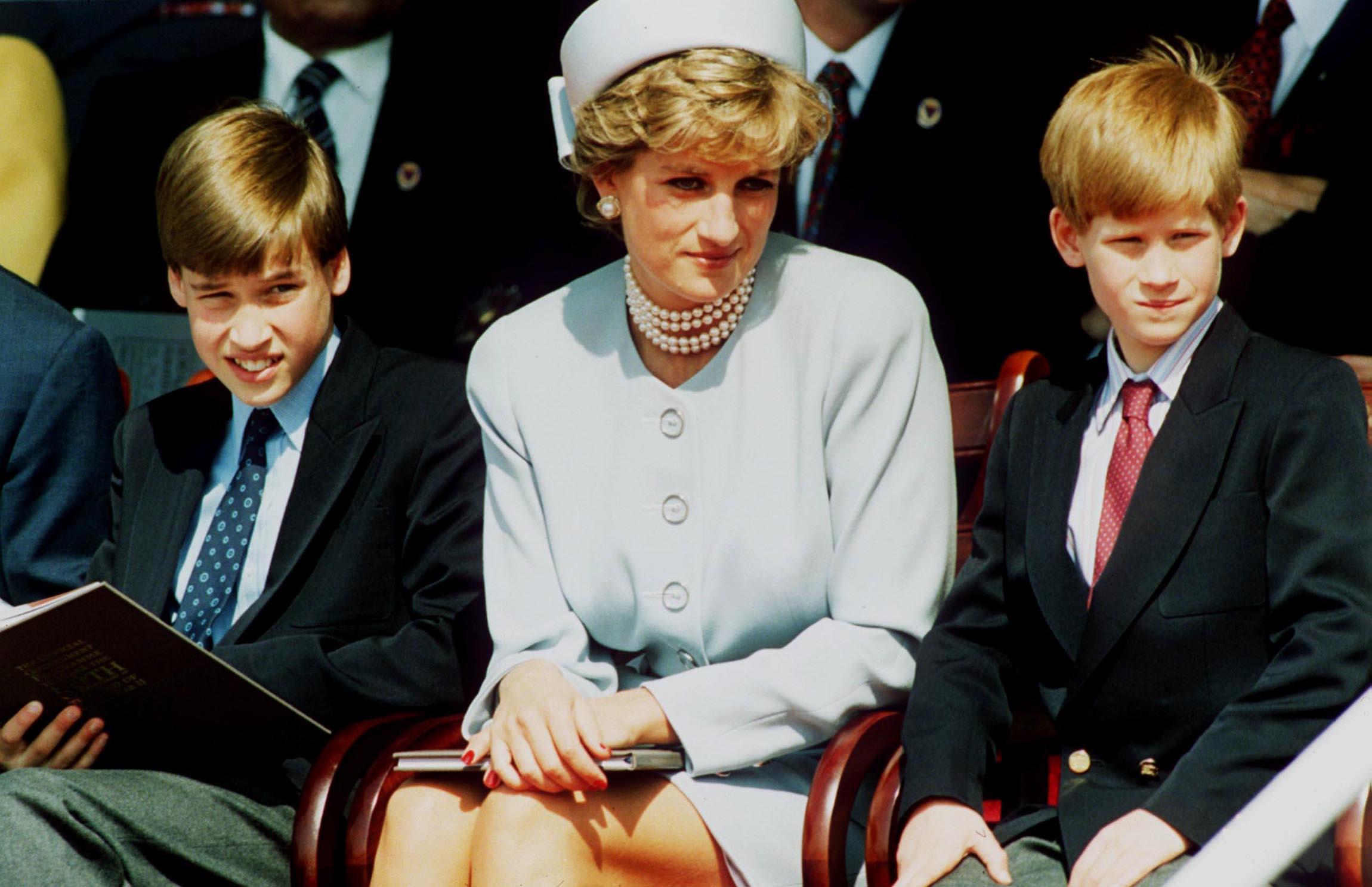 Prince William Prince Harry Princess Diana Getty Images