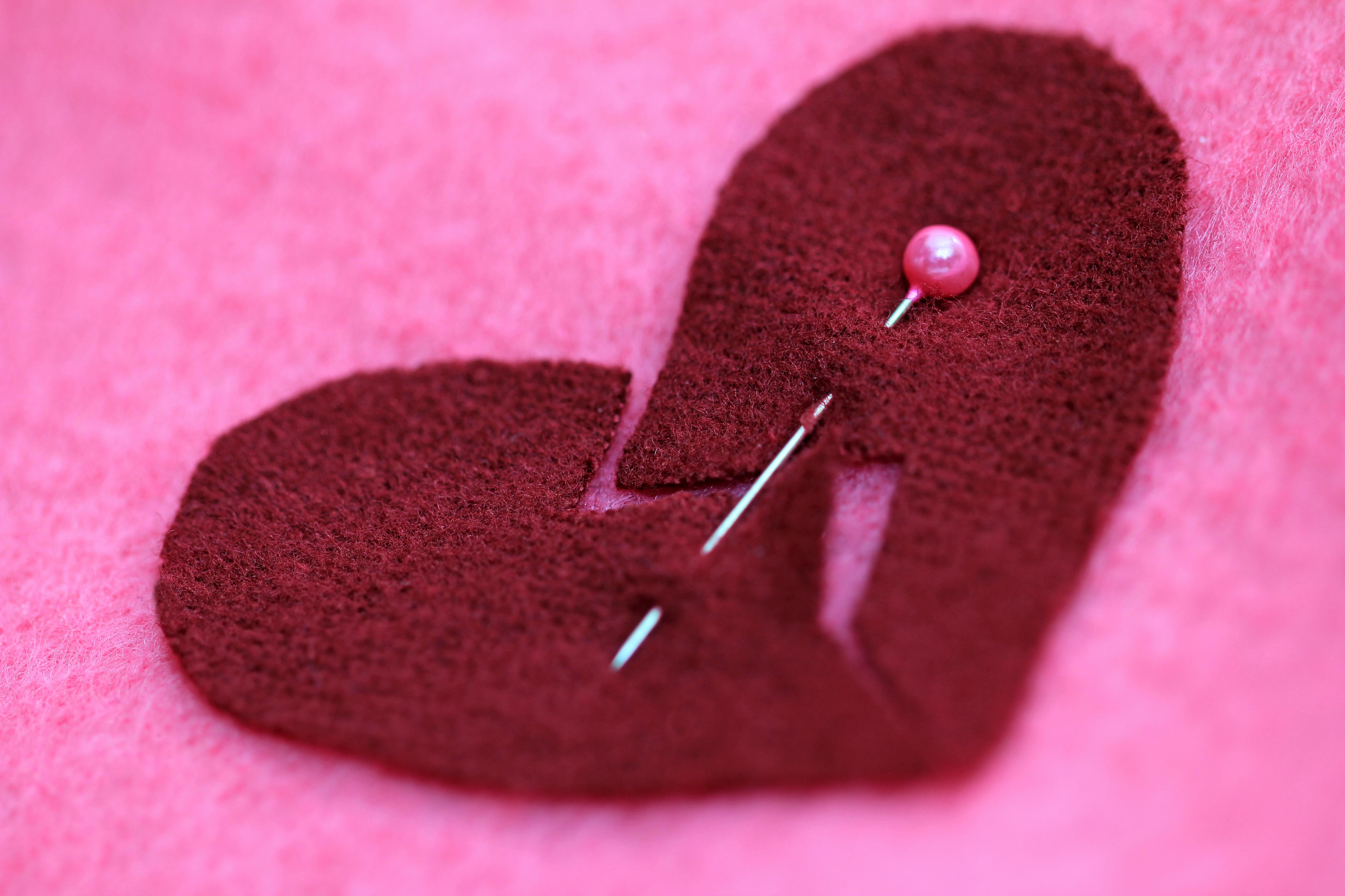 getty felt heart