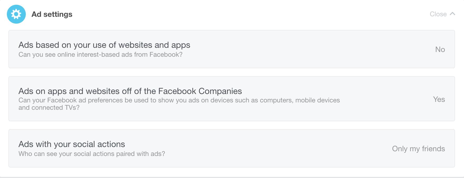 turn off facebook ads