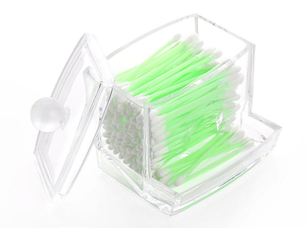 Richboom Clear Acrylic Q-tips Cotton Swabs