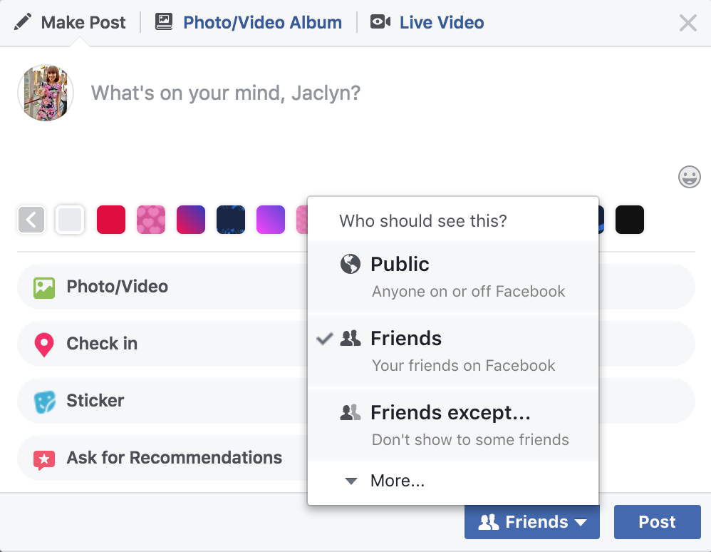 how to hide posts from facebook followers