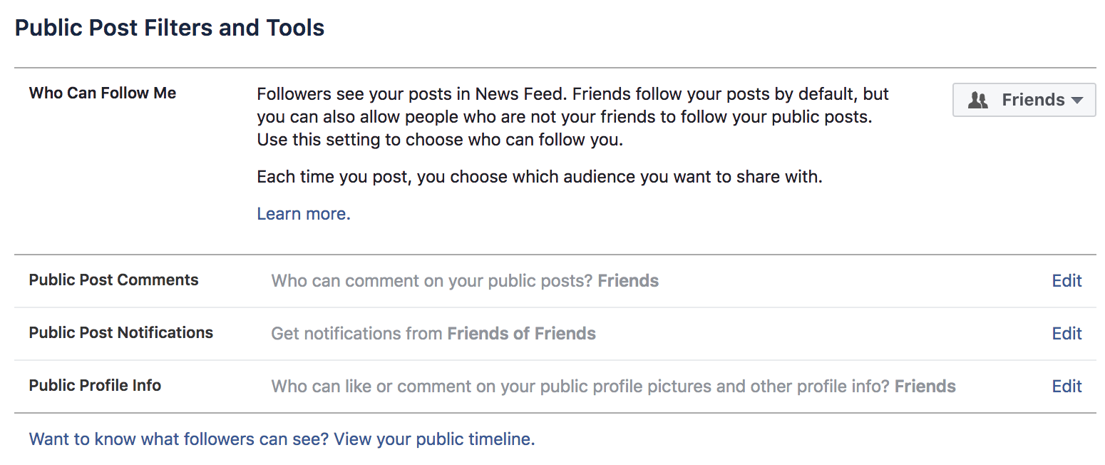 how to stop facebook followers