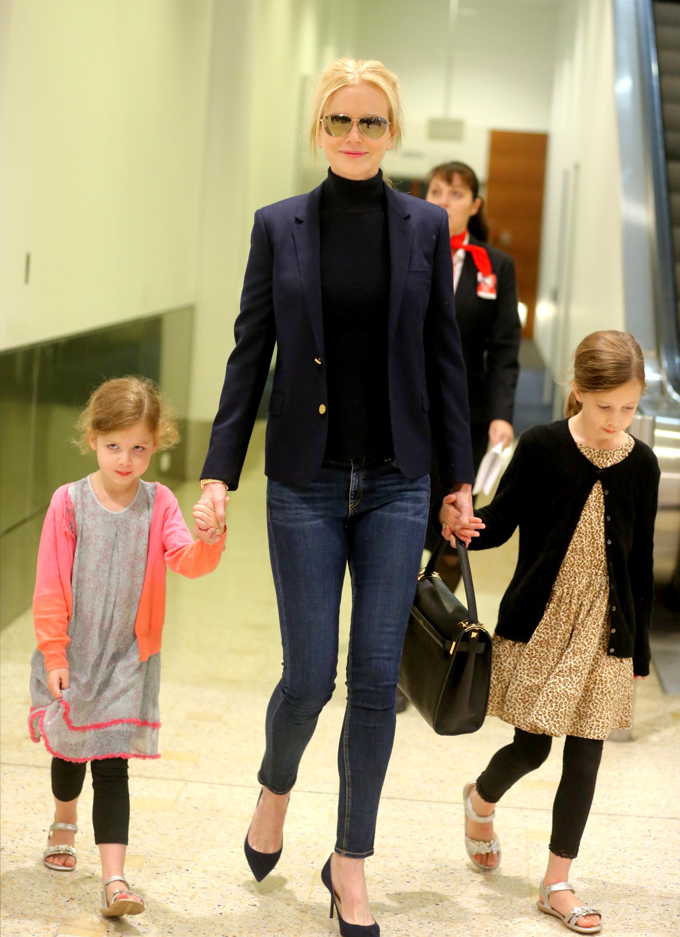 Nicole Kidman and daughters