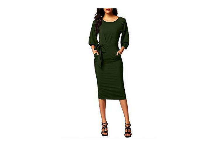 Meghan Markle Green Dress Look-a-Like Casual