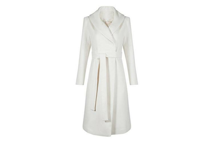 Meghan Markle White Coat Look-a-Like