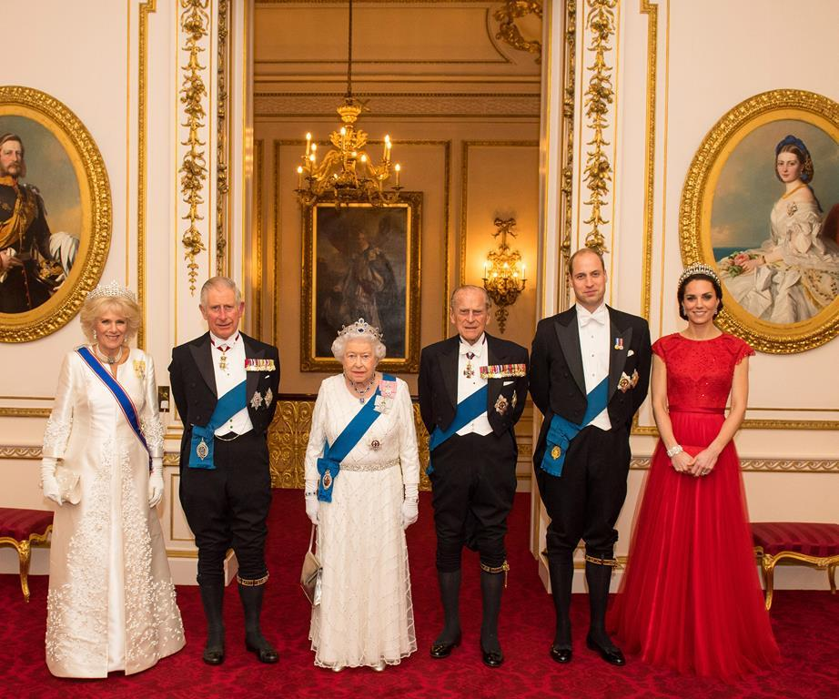 royal family diplomatic reception