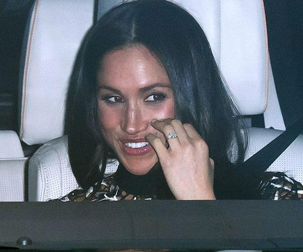 Meghan ring in car