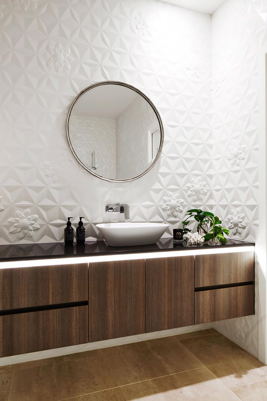 mirror bathroom update