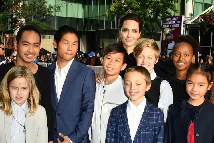 Angelina Jolie kids Getty