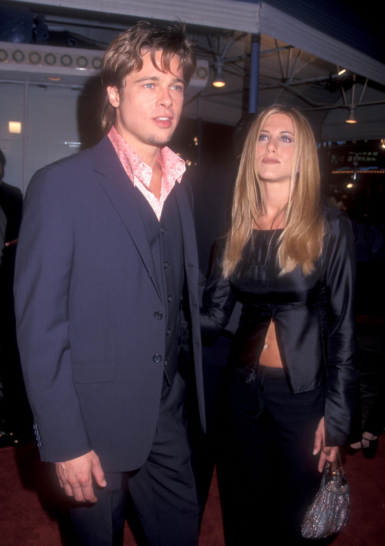 Brad Pitt Jennifer Aniston Fight Club Getty