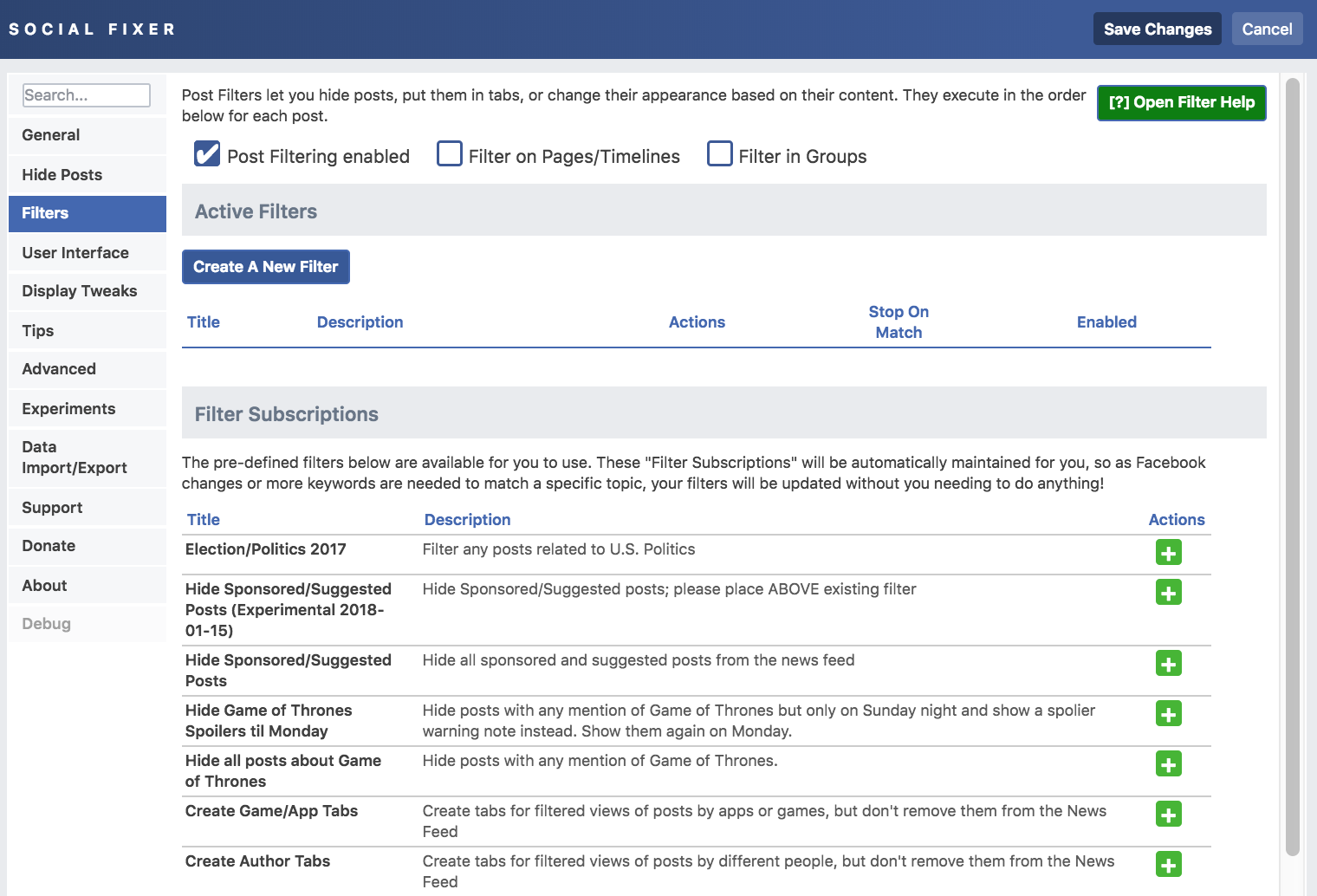 Facebook News Feed Extension