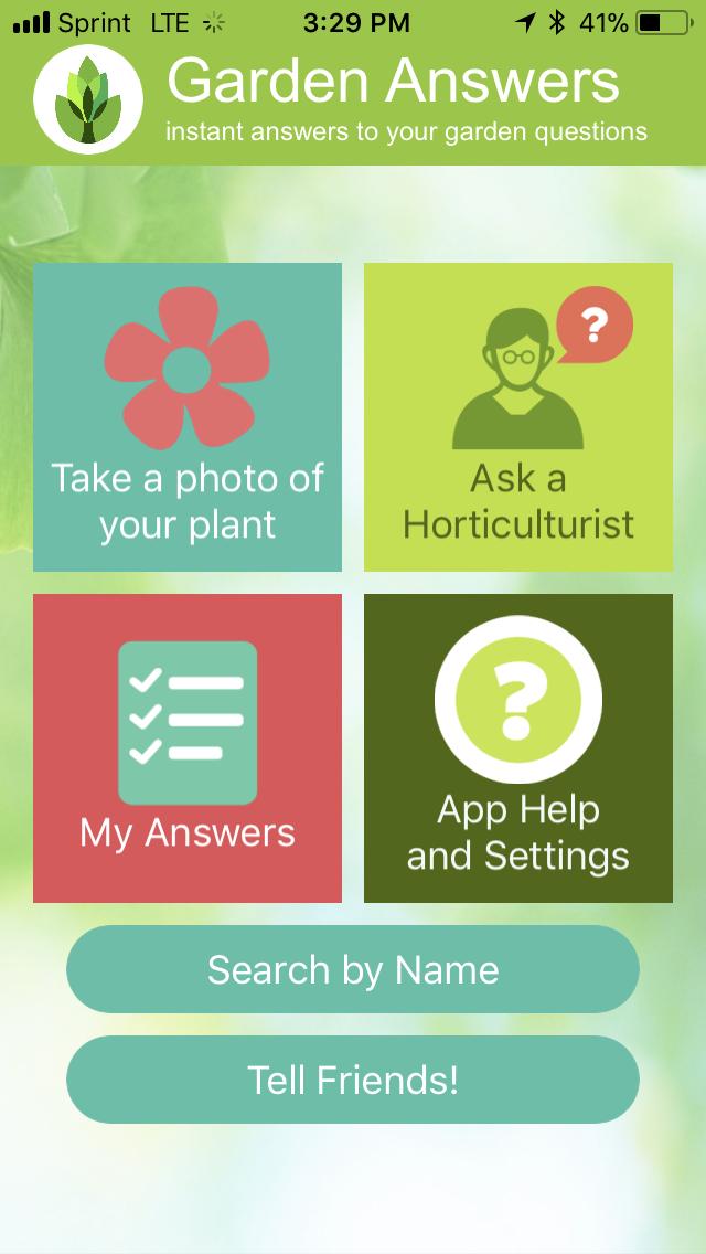 garden answers homescreen