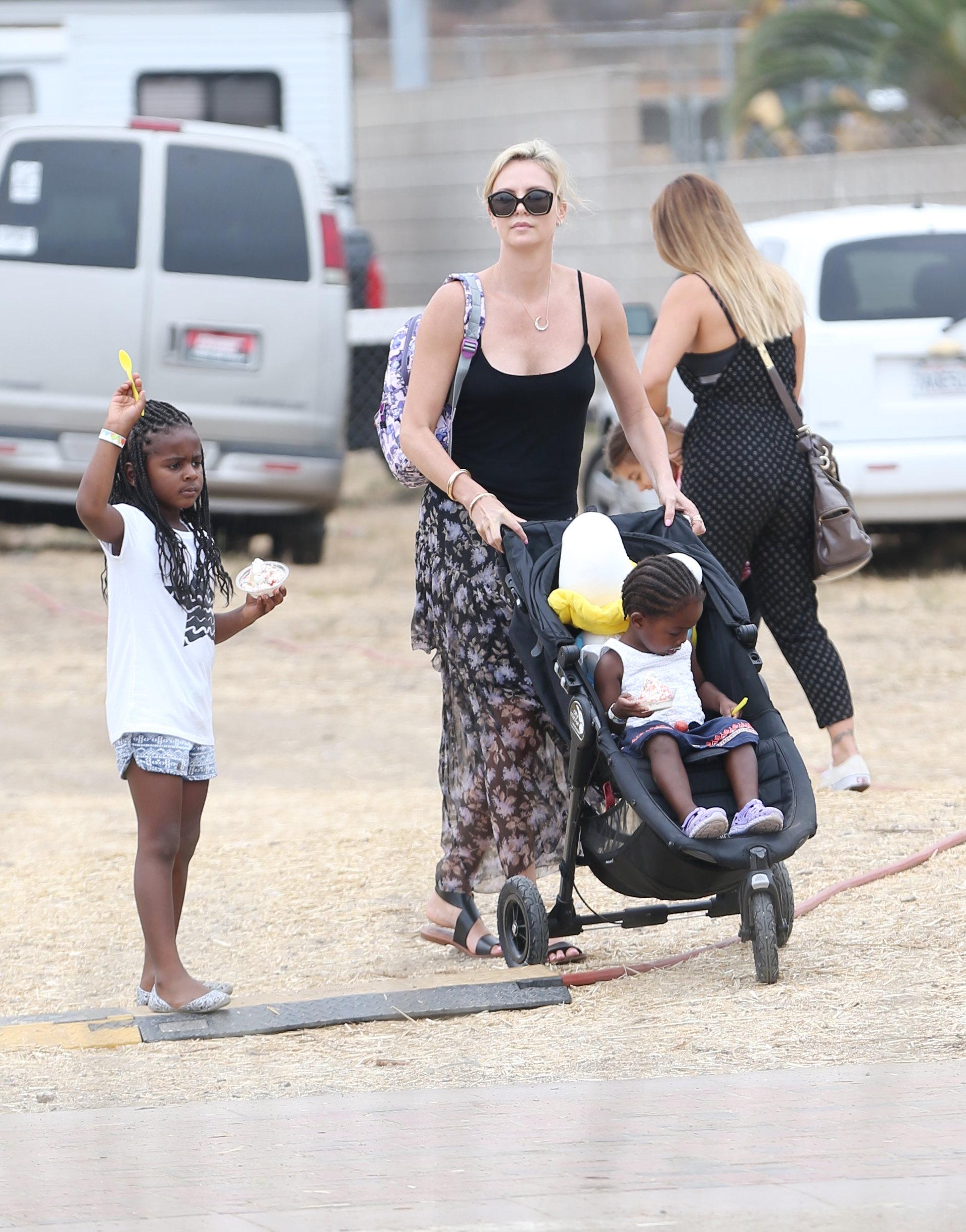 Charlize Theron and Kids Splash