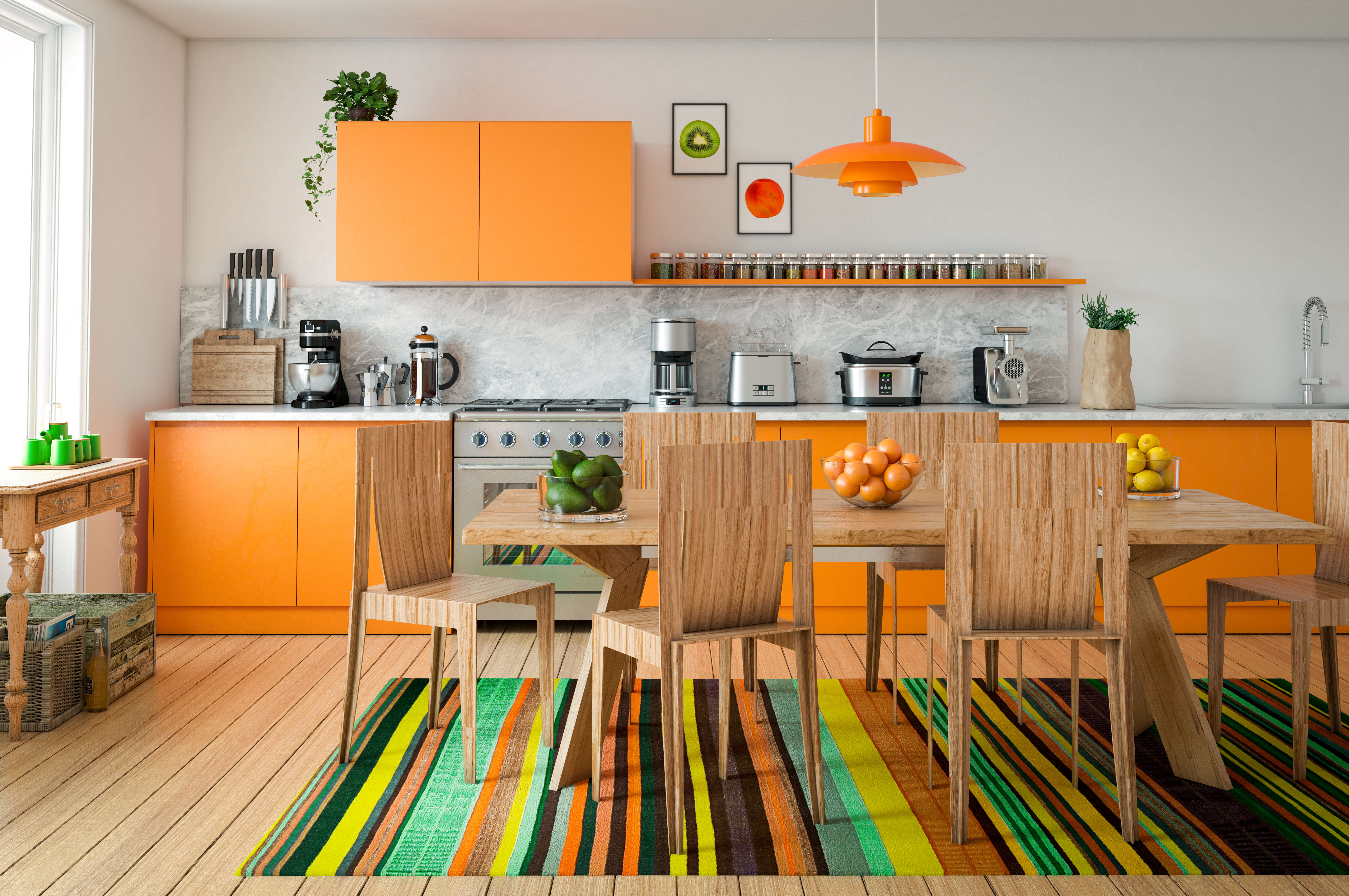 colorful kitchen getty