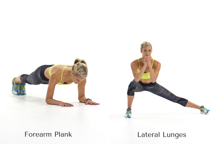 Forearm Plank & Lunges