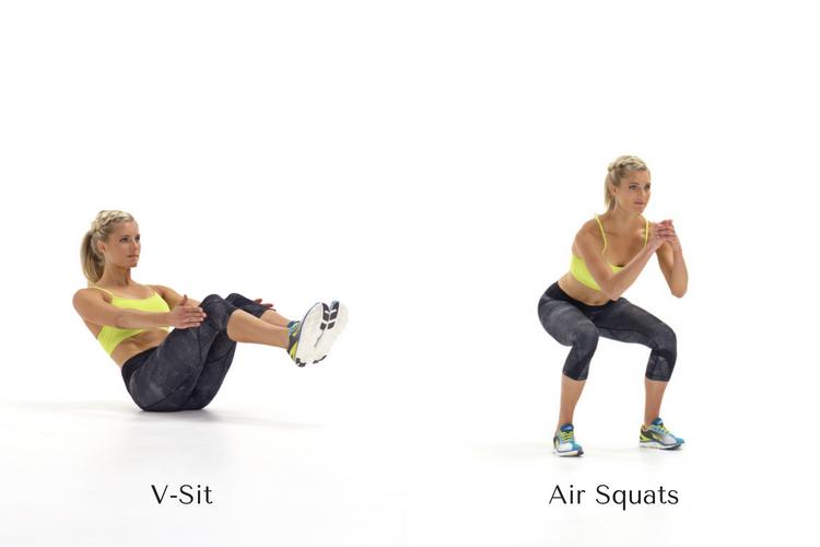v-sit/air squats