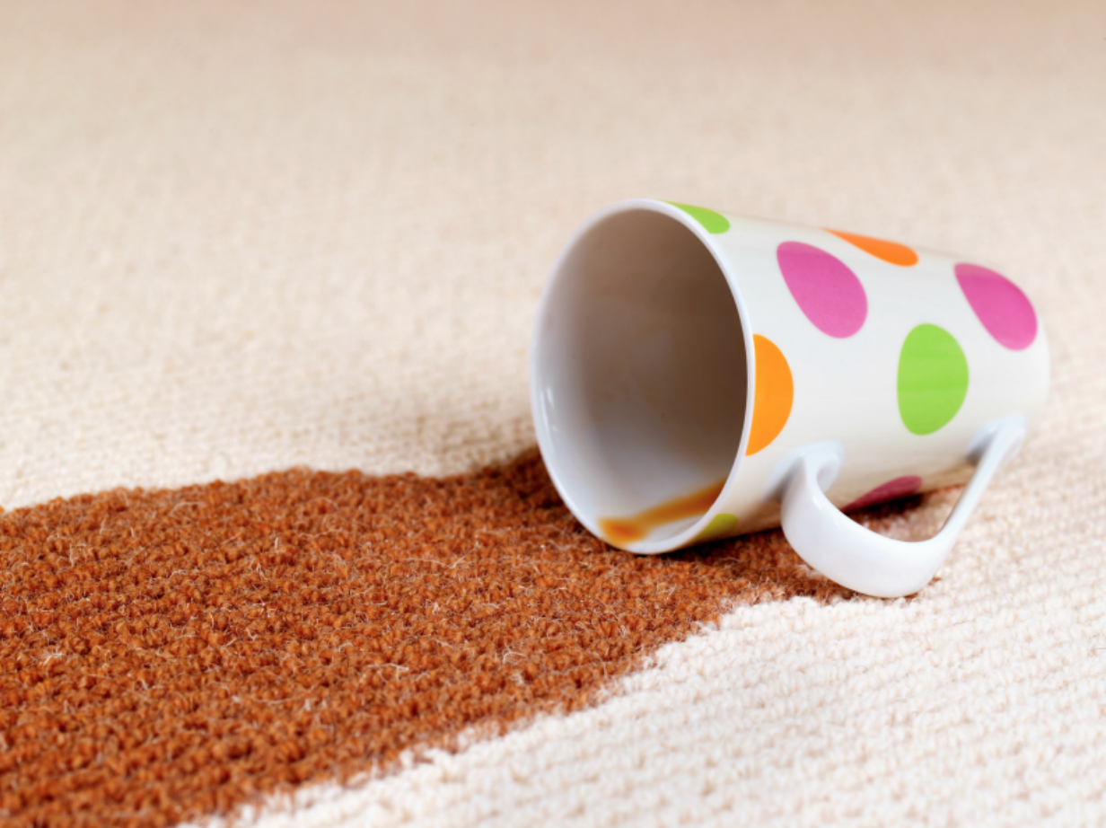 coffee spill on rug