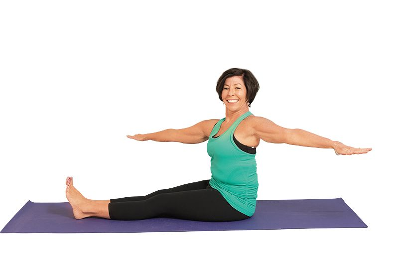 pilates seated spine twist