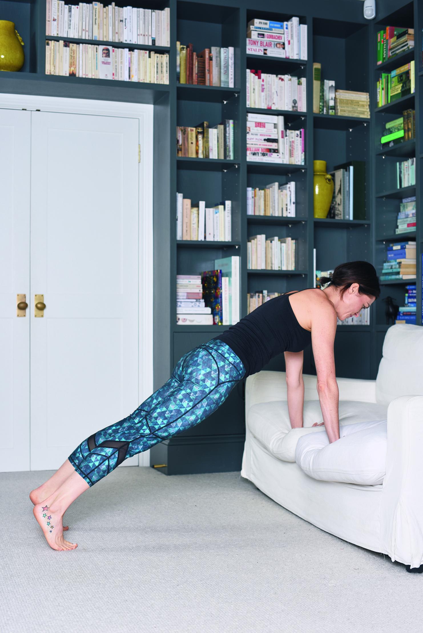 sofa squat thrusts